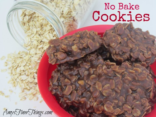 No Bake Cookies from AmysFinerThings.com