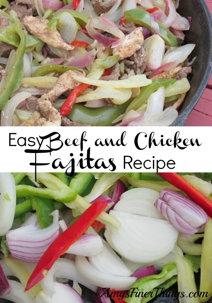 Easy and Delicious Skillet Beef and Chicken Fajitas Recipe