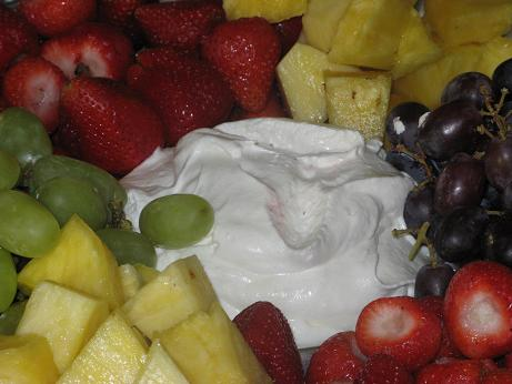 Marshmallow Cream Cheese Fruit Dip The Finer Things In Life