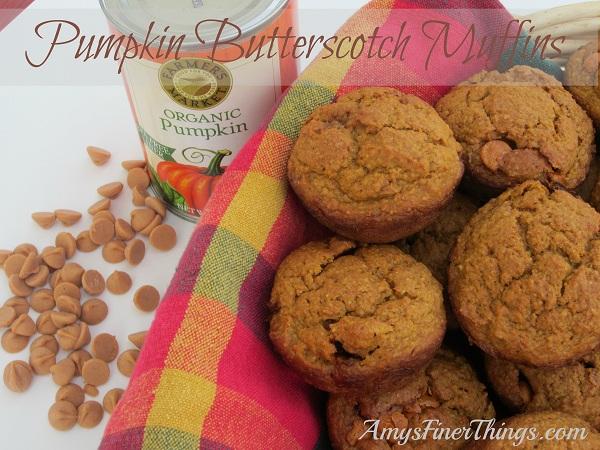 Pumpkin Butterscotch Muffins from AmysFinerThings.com