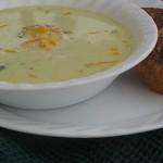 Cheesy Broccoli and Cauliflower Soup