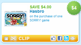 Hasbro Game Coupons The Finer Things In Life