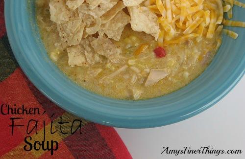 Chicken Fajita Soup ~ Click for recipe.