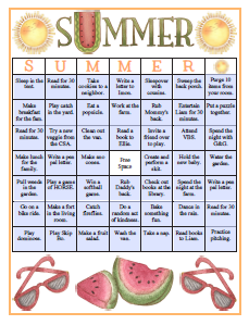 inspired by a bingo board sheet that my friend kim has made for her girls for a few years new season design helped me come up with this