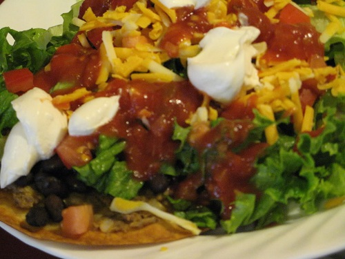 Loaded Tostadas from AmysFinerThings.com