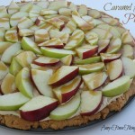 Caramel Apple Pizza with a Peanut Butter Cookie Crust from AmysFinerThings.com