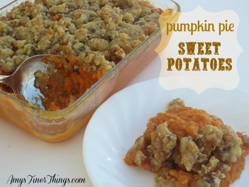 streusel topped sweet potatoes from AmysFinerThings.com