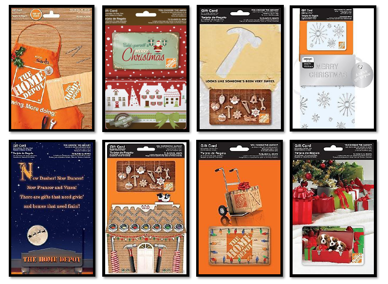 apron that plays jingle bells to the sound of a circular saw and a card that features a christmas village and comes equipped with a holiday puzzle as - Home Depot Holiday