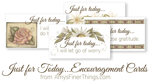Declarative image within printable encouragement cards