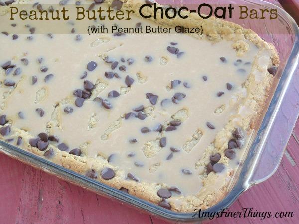 Peanut Butter Choc-Oat Bars