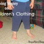 Because Kids Keep Growing {Saving Money on Children's Clothing}