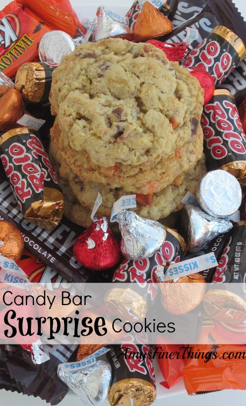 Candy Bar Surprise Cookies