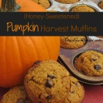 {Honey-Sweetened} Pumpkin Harvest Muffins