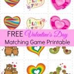Download this FREE Valentine's Day Matching Game Printable from Amy'sFinerThings